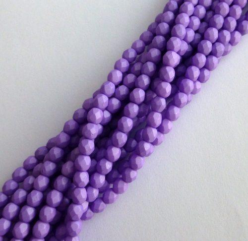 Czech glass fire polished beads purple 4mm