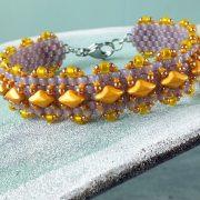 free madras bracelet pattern with gem duo