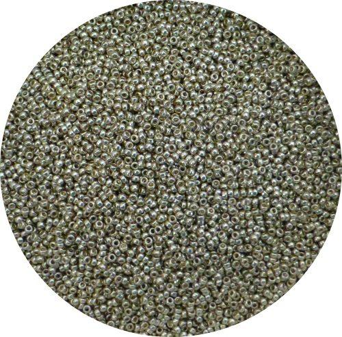Miyuki size 15 seed beads, duracoat silver 15-dc4201
