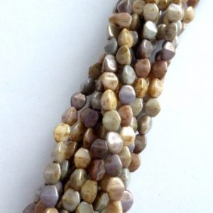 Czech pinch beads, stone effect mix ph-203093
