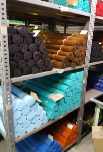 stacks of glass rods