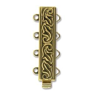 elegant element clasp, gold swirl