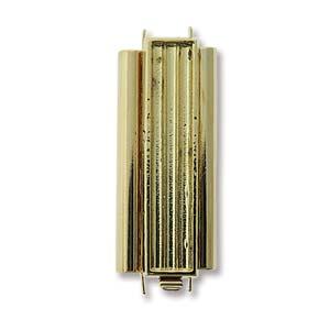elegant element delica bead slide clasp gold