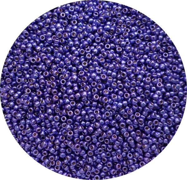 Toho Perma finish japanese seed beads size 11 - Vibrant purple 11-pf581