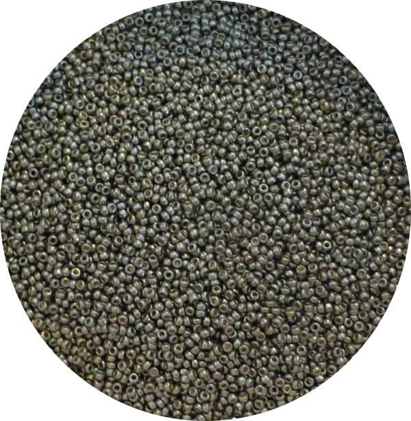 miyuki japanese seed beads, size 15, duracoat lt pewter 15-4221