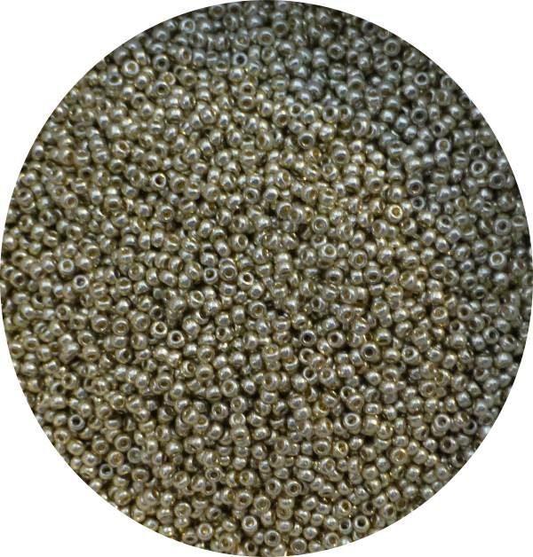 miyuki japanese seed beads, size 11, duracoat silver 11-4201