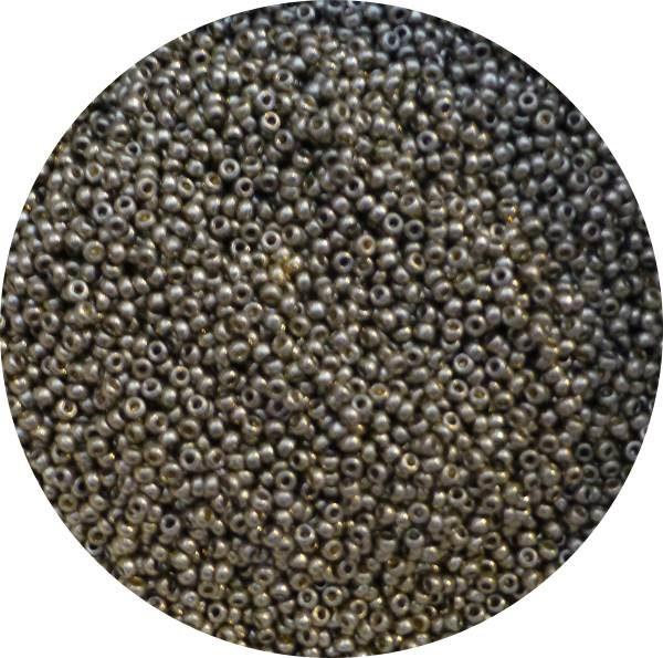 miyuki japanese seed beads, size 11, duracoat lt pewter 11-4221