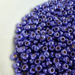 Toho Perma finish japanese seed beads size 8 - Vibrant purple 8-pf581