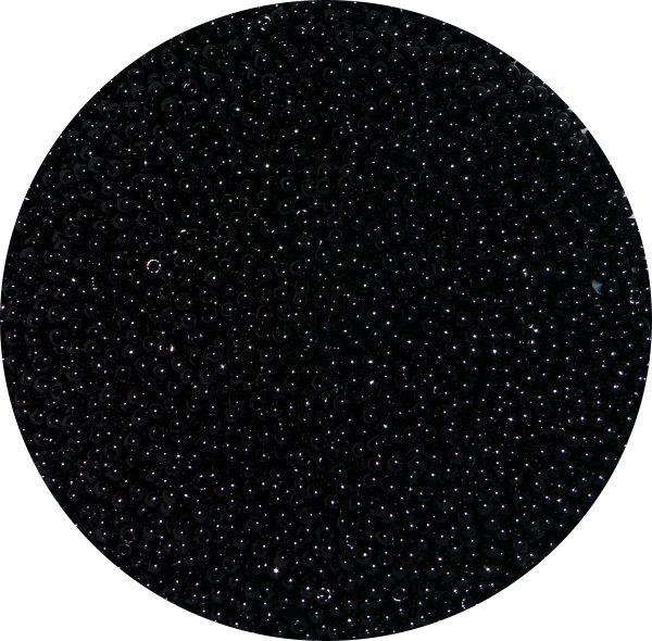 Toho size 11 seed beads, black 11-49