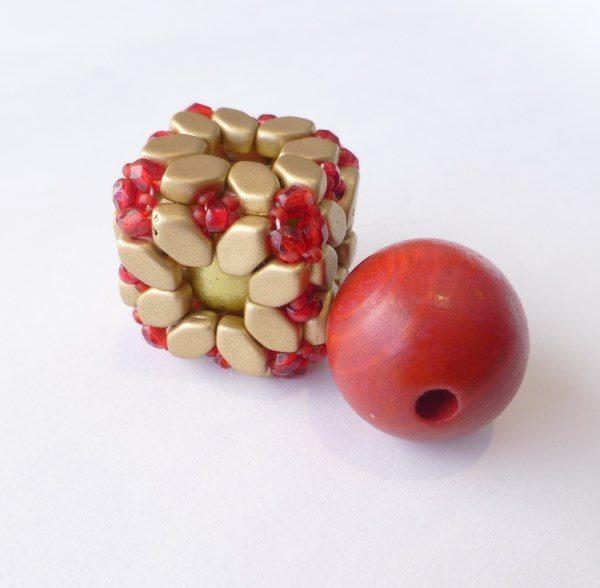 Les Perles Par Puca Bola bead kit gold