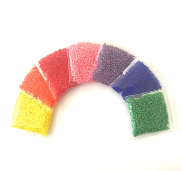 Rainbow Opaque Delica Bead Set, DBR-RBOP