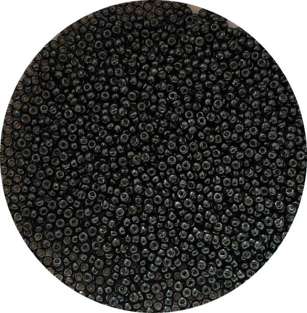 Miyukisize 11 seed beads Duracoat Black Moss