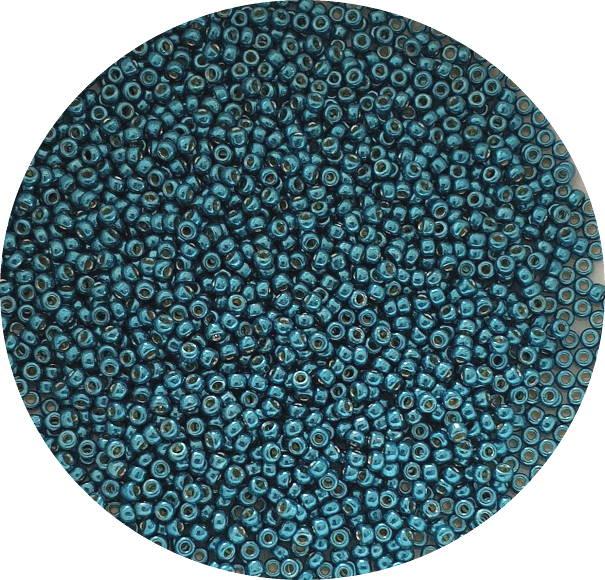 Miyukisize 11 seed beads Duracoat Poseidon Blue