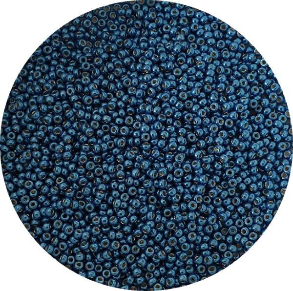 Miyukisize 11 seed beads Duracoat Deep Aqua Blue