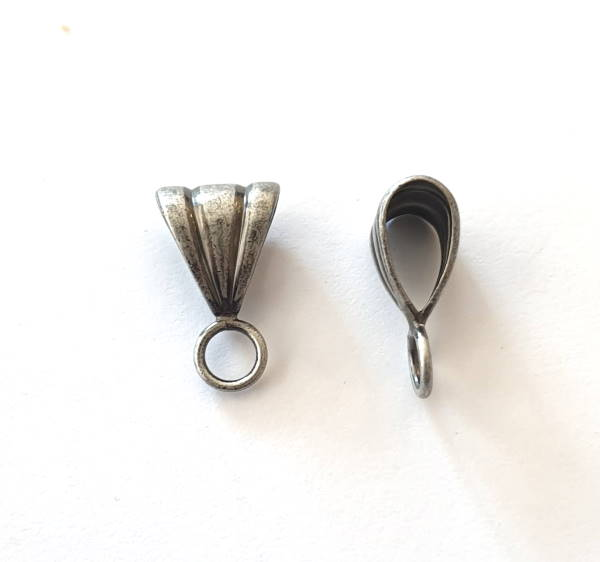 bail, with closed loop, antique silver plate, BAIL-ASPL