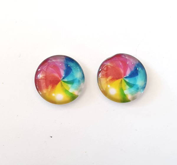 18mm Glass Cabochon, C18-RBOW