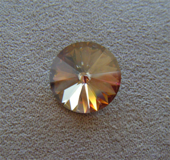 Swarovski rivoli 18mm crystal golden shadow