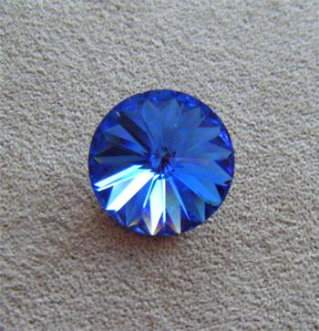 Swarovski rivoli 16mm sapphire